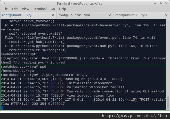 Start Ryu Web GUI