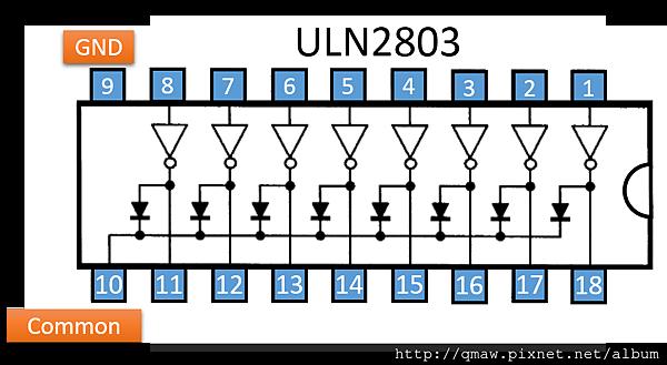 ULN_2803_Pinout