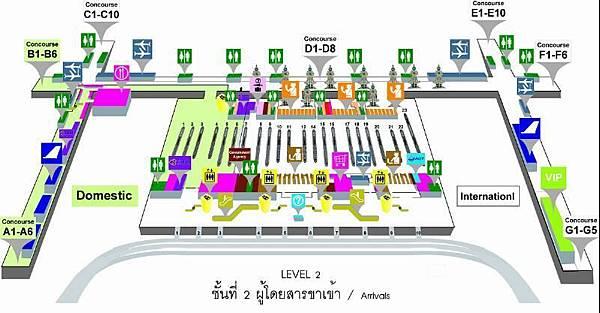 曼谷機場2F(Arrival).JPG