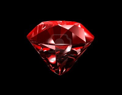 5734376-3d-illustration-looks-red-ruby-on-black-background