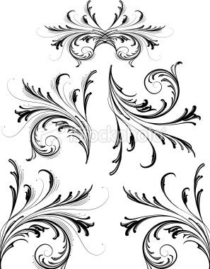stock-illustration-9252823-delicate-scrollwork-design-elements