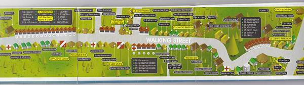 Walking Street map
