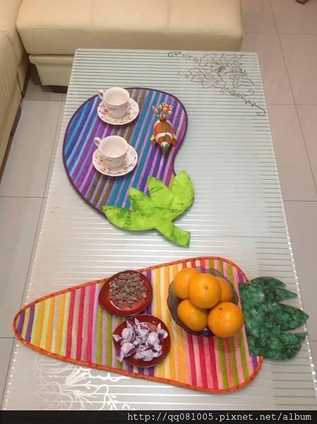 茄子紅蘿蔔 彩色桌墊
