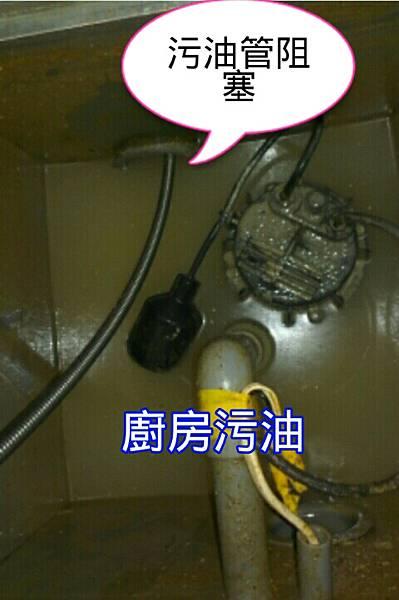 污油槽阻塞