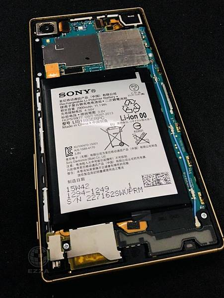 SONY Z5更換膨脹電池