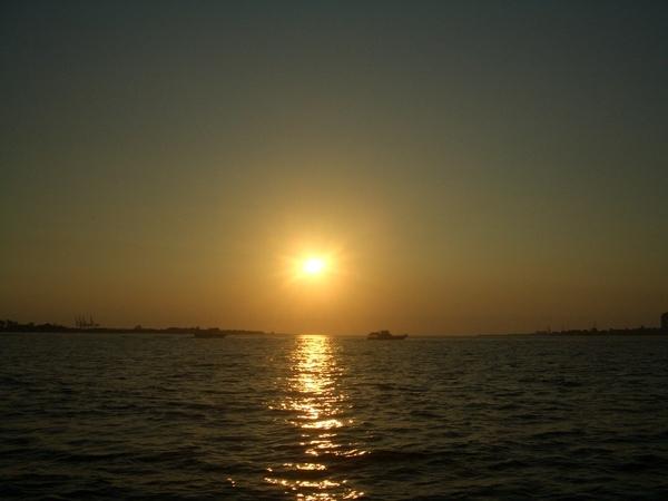 海邊的夕陽