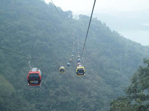 77紅黃藍三色的纜車在空中感覺好像玩具,好可愛呀!.jpg