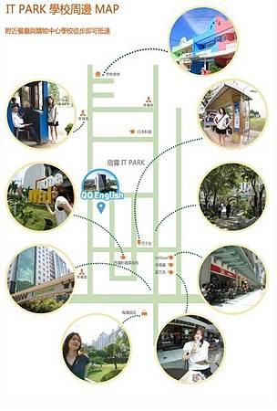 校園附近地圖