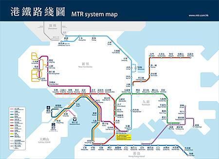 香港MTR_map
