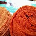 草木手染羊毛圍巾:橘色