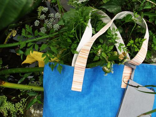 植物手染兩用大提袋