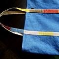 植物手染織帶款提袋