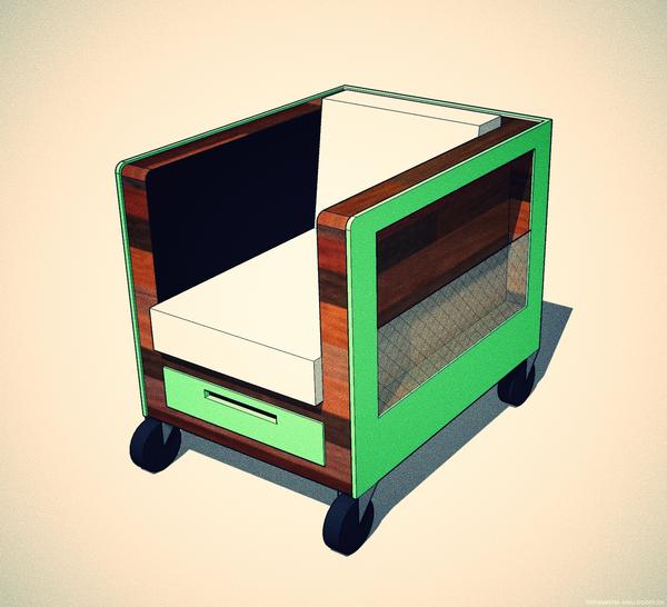 老鐵櫃沙發