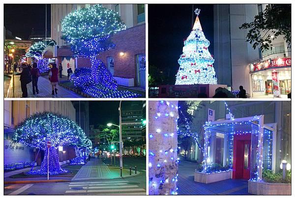沖繩街上夜景