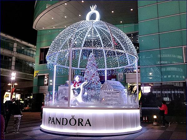 台北東區聖誕燈飾