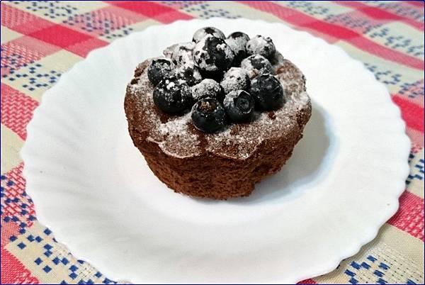 自做藍莓巧克力蛋糕
