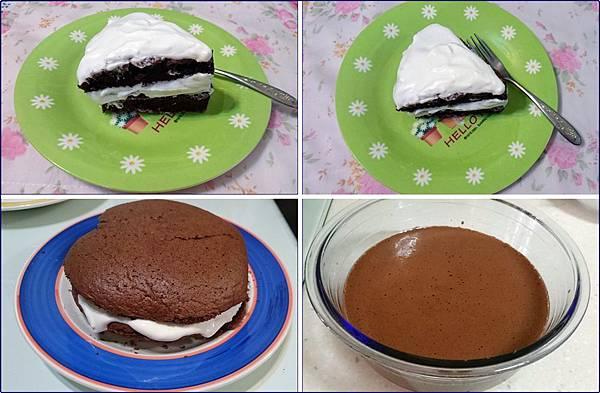 自做鮮奶油巧克力蛋糕