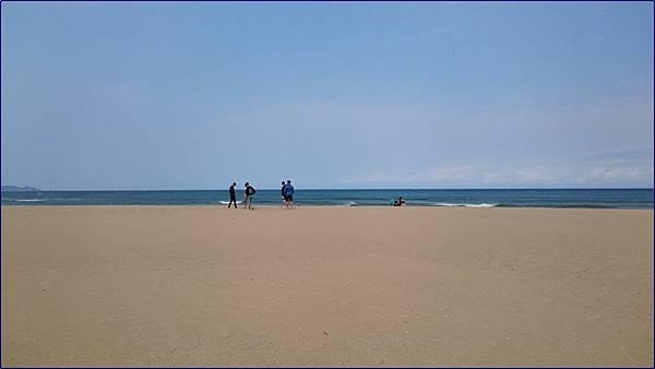 春天的福隆海水浴場