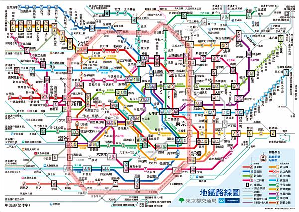 東京地鐵圖-山手線