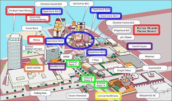 美國村地圖