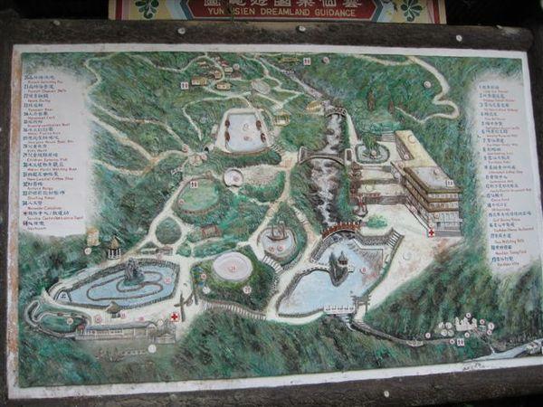 雲仙樂園的地圖