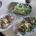 豆乾20  燙青菜30  豬頭肉50