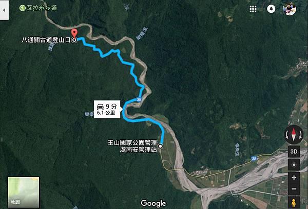 玉山南安衛星圖-八通關古道、瓦拉米步道.jpg