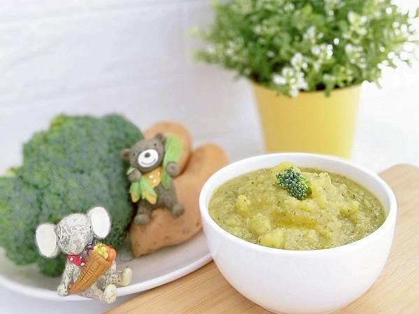 寶寶食譜_料理機做地瓜綠花椰菜泥(6+)