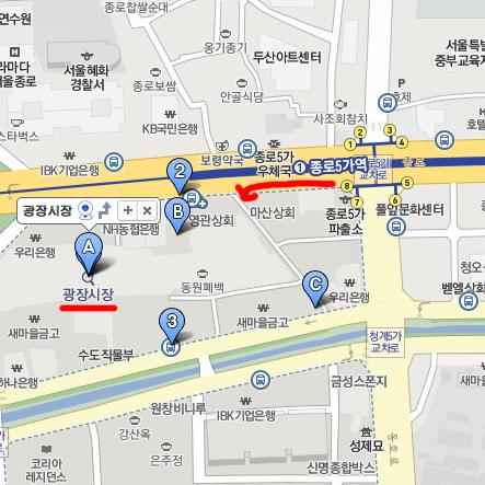 廣藏市場(광장시장)MAP