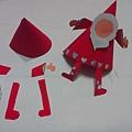 聖誕老人diy、美術聖誕節、美勞聖誕老公公