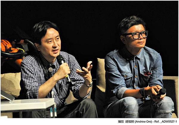 廣藝基金會執行長楊忠衡(左)及QA Ring計畫主持人吳宗祐