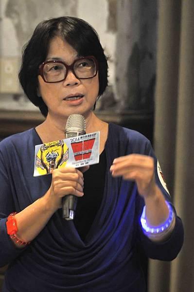 龍應台部長鼓勵年輕人來享受數位表演藝術節HH《同步感染》(廣藝基金會提供,胡福財攝影)
