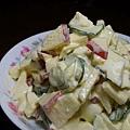 紅綠蛋沙拉~小黃瓜用糖醃~人道飼養雞蛋問題