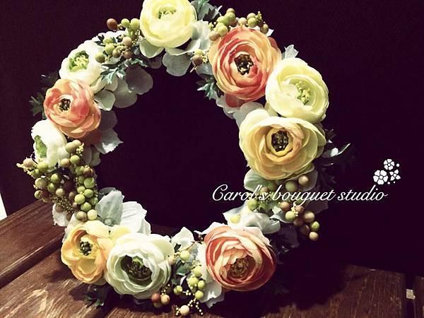 「歐式裝飾花圈」
