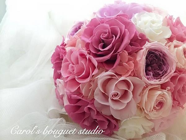 •美式新娘捧花•不凋花系列