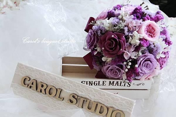 【紫色奇遇】-不凋花與乾燥花應用捧花