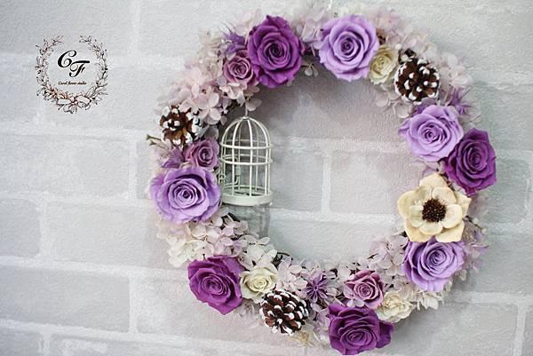 【與玫瑰共舞-不凋花花圈裝飾課程】-DIY花圈裝飾