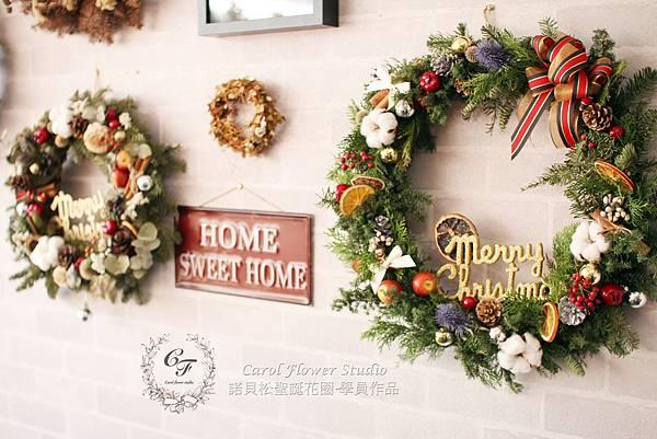 【諾貝松聖誕花圈課程】-DIY課程花絮分享