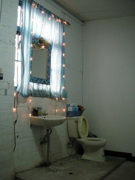 一間廁所空間很大但只有一個馬桶還沒有很炫!