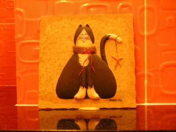 洗手間的貓咪擺式的磁磚!