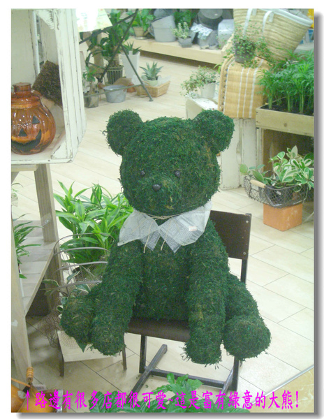 路邊有很多店都很可愛~這是富有綠意的大熊!.jpg