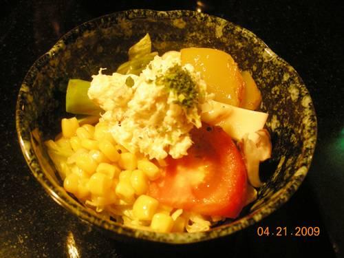 蒲食屋-定食附的沙拉.jpg