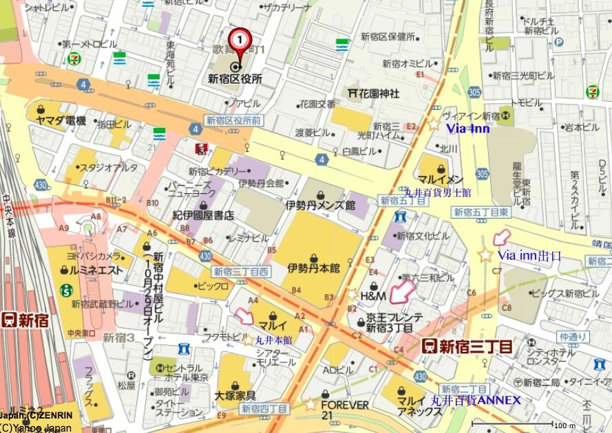 新宿三丁目地圖