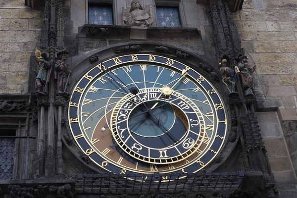 天文鐘,第一鐘面