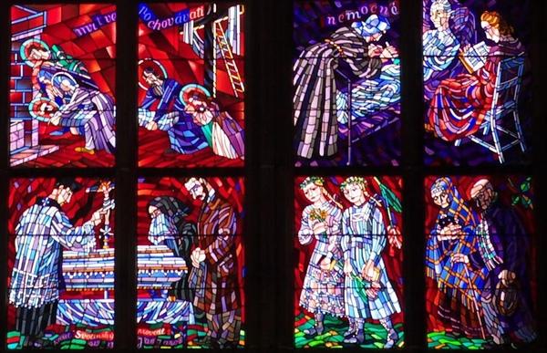St. Vitus cathedral 彩繪窗花
