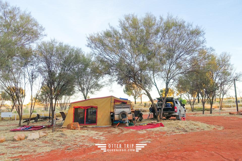 澳洲北領地/國王峽谷露營區/Kings Canyon Holiday Park/坐看國王峽谷日落的露營地
