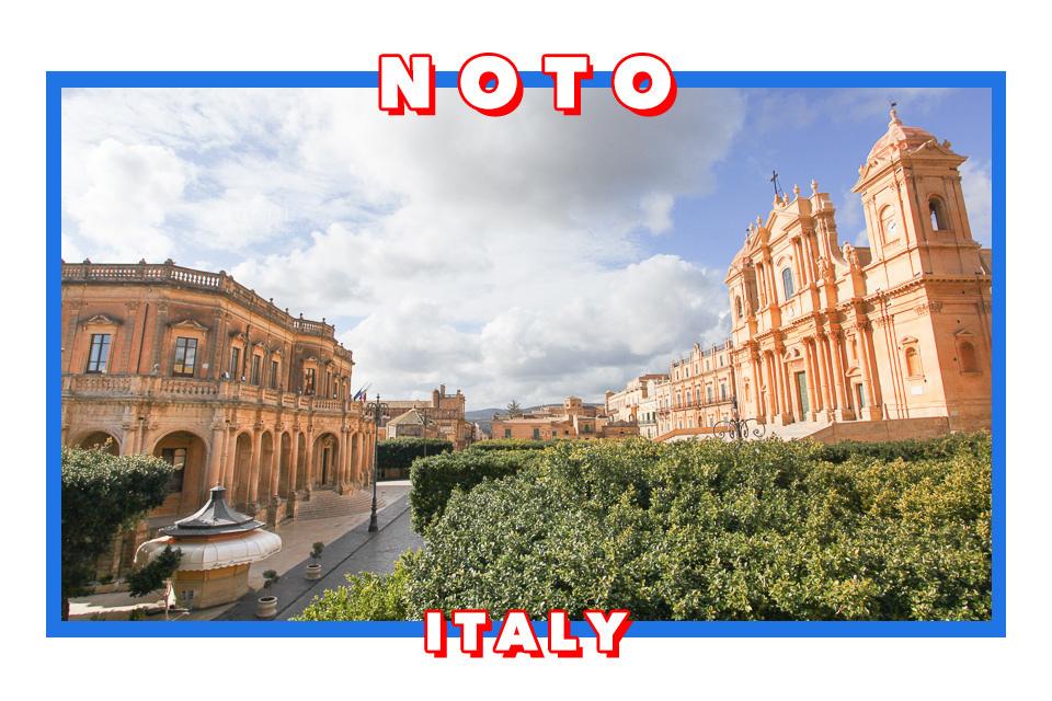 意大利西西里諾托Noto 史上最強網紅 Chiara Ferragni結婚地