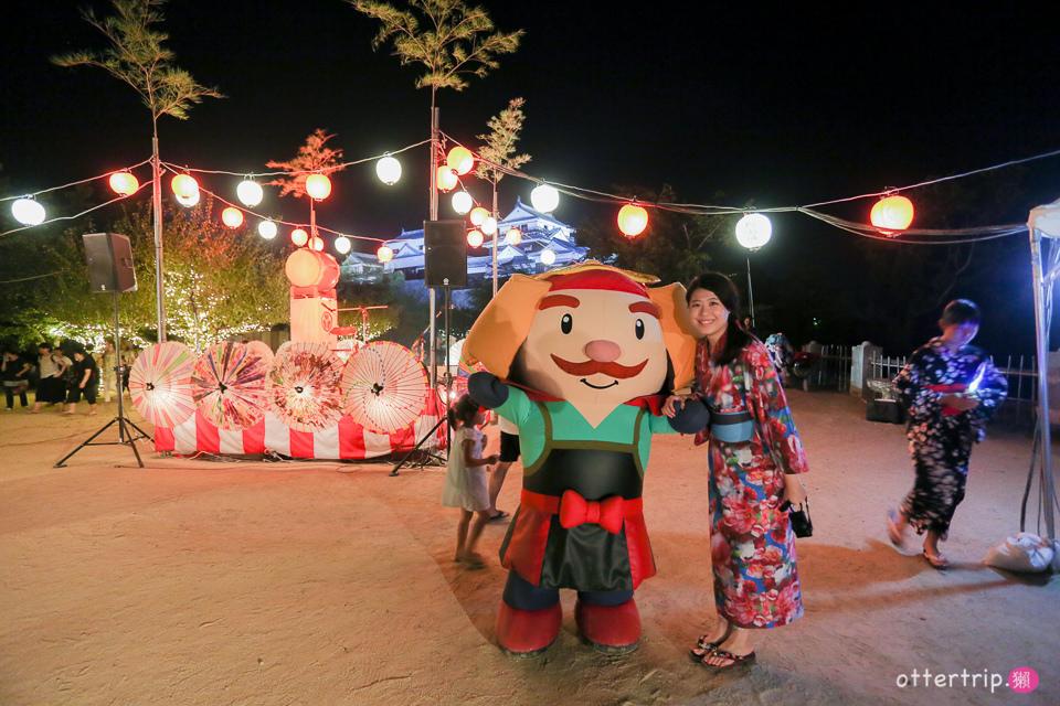 日本四國松山 夜遊松山城盂蘭盆節活動 道後溫泉的いよ狸居酒屋吃宵夜
