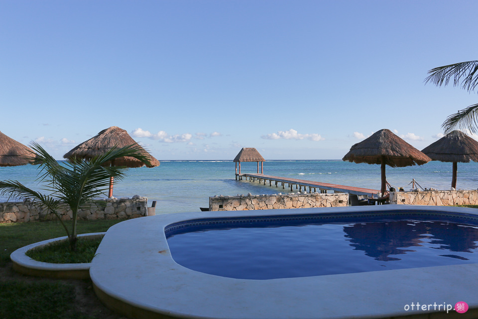 墨西哥Tulum住宿推薦 |  Blue Sky Tulum 房間走出來就能玩水