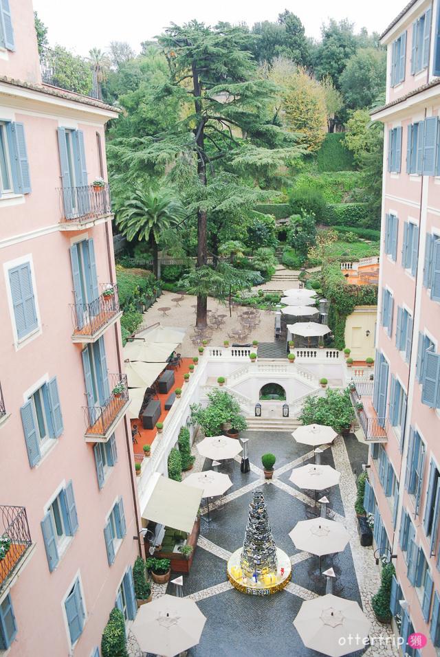 「義大利羅馬住宿推薦」人民廣場附近的Rocco Forte Hotel De Russie